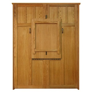 Full size Park City style Murphy Bed in Oak wood with Aurora Splendor finish and Drop Down Table