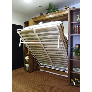 Bifold Bookcase Wallbed White Frame Up
