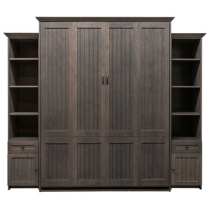 Newport Murphy Bed in Maple wood with Driftwood finish