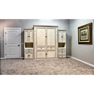 Harmony II style in Oak wood with Antique White finish