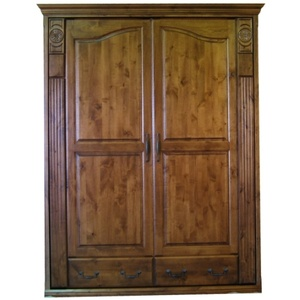 Knotty Alder Tuscany Wall Bed with English Manor finish
