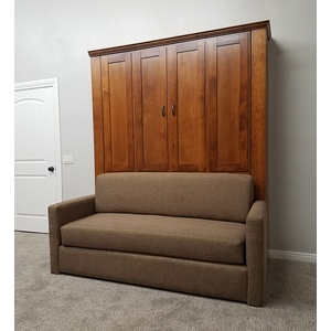 Remington Sofa Murphy Bed / Pecan sofa