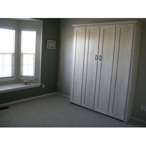 Alder Antique White Remington Murphy Bed