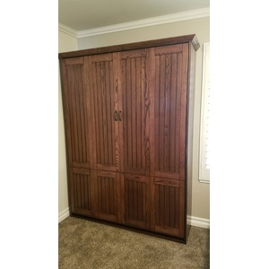 Newport style Murphy Bed in Oak wood