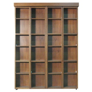 Bi-fold Bookcase Wallbed in African Mahogany