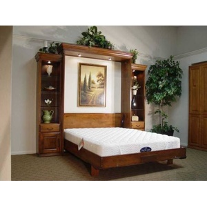 Queen Tuscany Wall Bed Open