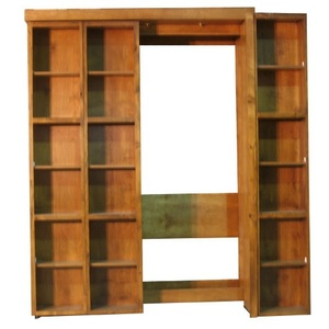 Bi-fold Bookcase Wallbed Partially Open