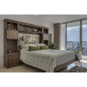Contemporary Platform Bed and Cabinets