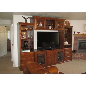 Custom Oxford style Entertainment Center