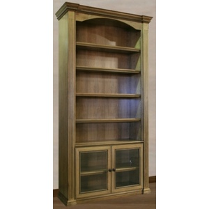 Custom Harmony Bookcase with fluted columns and arched top rail