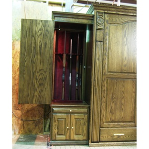 Cabinet with Hidden Gun Compartment