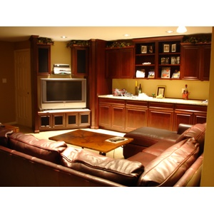 Oxford style Entertainment Center and cabinets