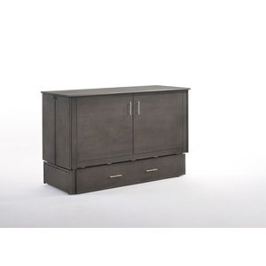 Sagebrush Cabinet Murphy Bed in Stone Wash Finish