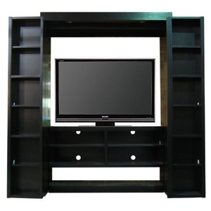 Bookcase Entertainment Center open