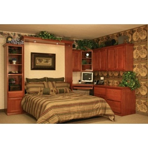 Brittany Alder Wallbed Home Office with bed down