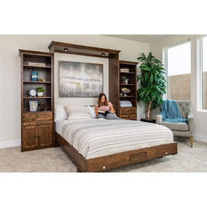 Cape Cod style Wall Bed in Cherry wood with Grand Harbor finish