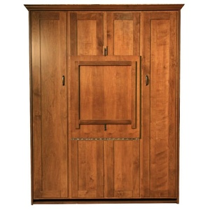 Alder Queen Remington Murphy Bed with Table up