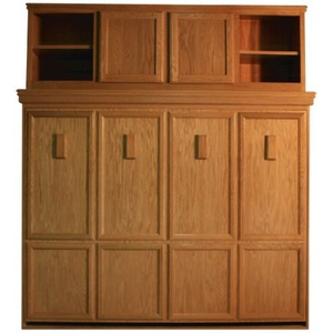 Brittany Side Mount Oak with Bed Top Cabinet Center Door Cabinet with Natural Finish