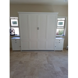 Newport style Murphy Bed in Alder wood with Alabaster finish