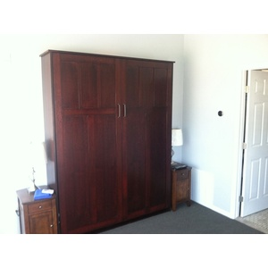 Park City style Murphy Bed in Quarter Sawn Oak with Cordovan finish