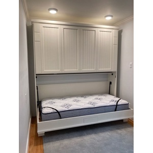 Newport style Twin size Bunk Beds in Paint Grade wood with White finish
