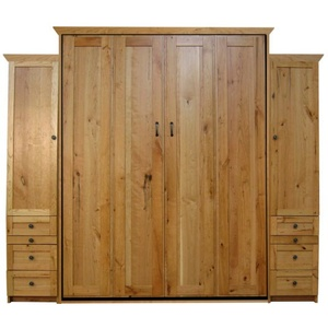 Queen Remington in Rustic Cherry wood with Natural finish and surrounding Wardrobes
