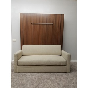 Monaco Sofa Murphy Bed / Mahogany wood / Natural finish / Eggshell sofa