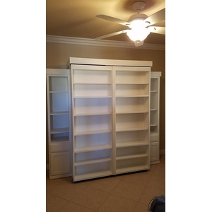 Bookcase Wallbed in White finish closed