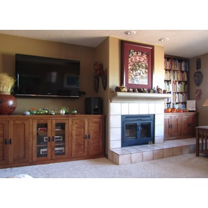 Custom Entertainment Center and Cabinets