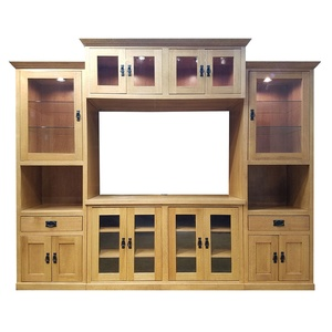 American Craftsman style Entertainment Center in Quarter Sawn Oak wood