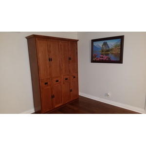 Mission style Murphy Bed in Alder wood