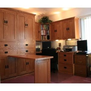 American Craftsman Oak Office