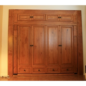 Custom Rustic Cherry Harmony Murphy Bed with Mission finish