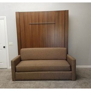 Monaco Sofa Murphy Bed / Mahogany wood / Natural finish / Pecan sofa