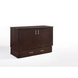 Sagebrush Cabinet Murphy Bed in Dark Chocolate