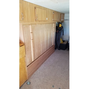 Chalet Wallbed in Trailer closed
