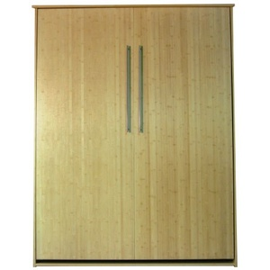 Queen size Scape Murphy Bed in Bamboo wood with Natural finish