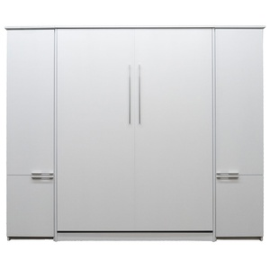 Queen size Scape Murphy Bed with White finish