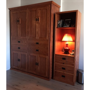 Wallbed and Cabinet in Oak wood