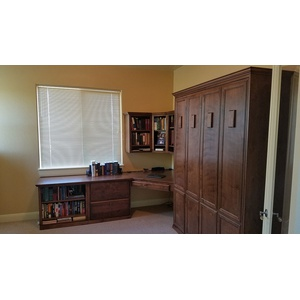 Brittany style Home Office in Alder wood with English Manor finish