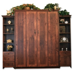 Queen size Remington in Rustic Cherry wood with Burnt Sugar finish