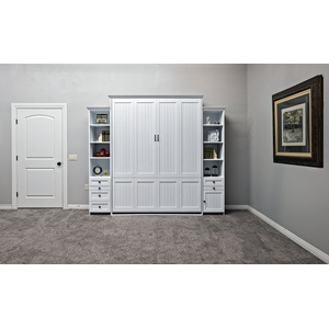 Newport Style Murphy Bed in White Finish