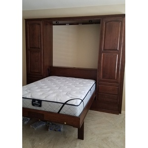 Queen size Presidential II style Wallbed in Cherry wood with Custom finish