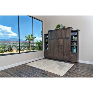 Park City style Murphy Bed / Alder wood / Driftwood finish