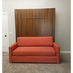 Monaco Sofa Murphy Bed / Mahogany wood / Natural finish / Mango sofa