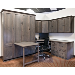 Queen Size Newport Home Office in quarter sawn oak with driftwood finish