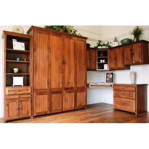 Newport style Home Office in Alder wood with English Manor finish