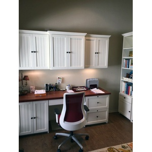 Home Office in Newport style in White Finish