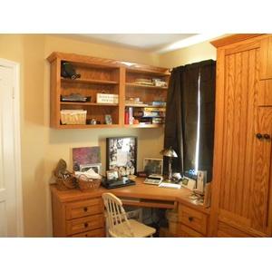 Newport style Oak Murphy Bed Office