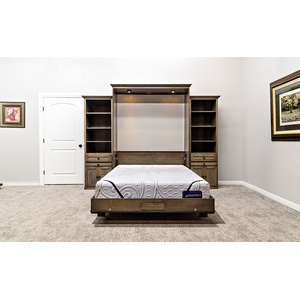 Cape Cod style Wall Bed in Quarter Sawn Oak Wood / Driftwood Finish